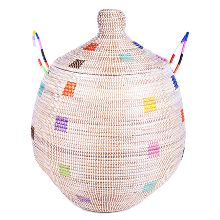 rainbow-dot-large-gourd-basket