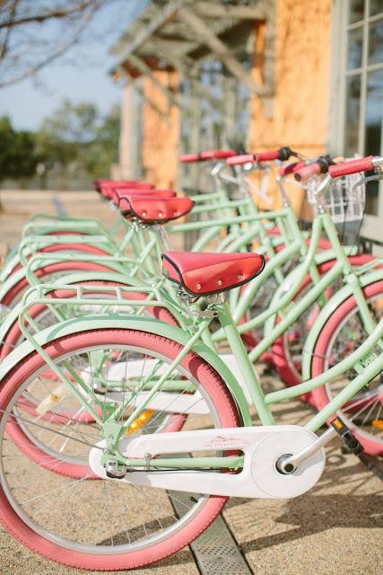 pastel bikes