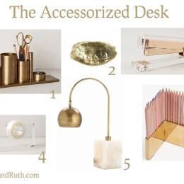 Accessorized Desk via HOMErandRuth.com