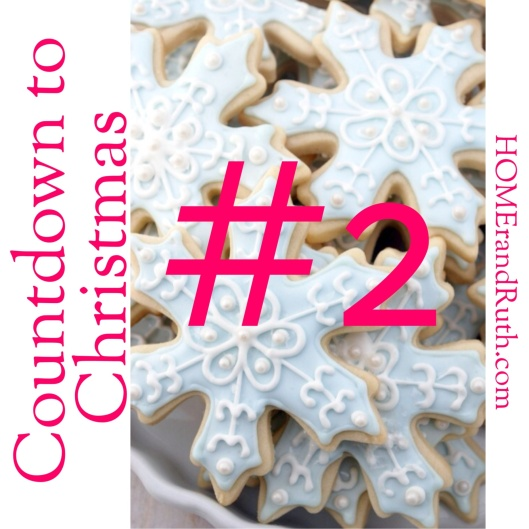 #2 - Baking Christmas Cookies; Image via All Things Shabby and Beautiful