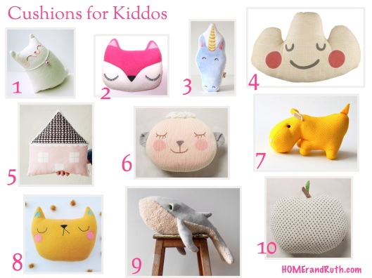 10 Whimsical Cushions for Kiddos || HOMErandRuth.com