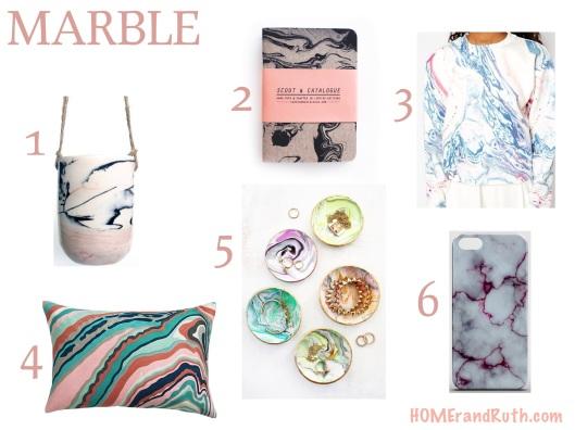 Trend Alert: Marble || HOMErandRuth.com